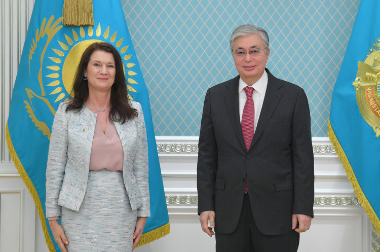 Kazakhstan President receives the OSCE Chairperson-in-Office, Minister for Foreign Affairs of Sweden Ann Linde