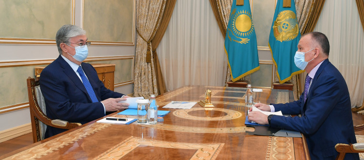 The President receives Chairman of the Central Election Commission Berik Imashev