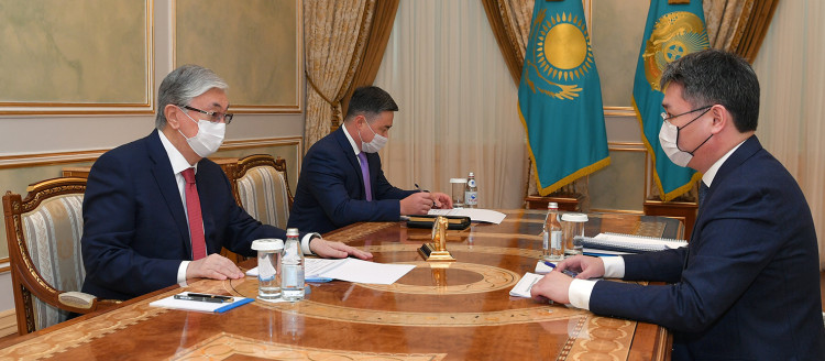 Kassym-Jomart Tokayev receives Minister of Labor and Social Protection of the Population Serik Shapkenov