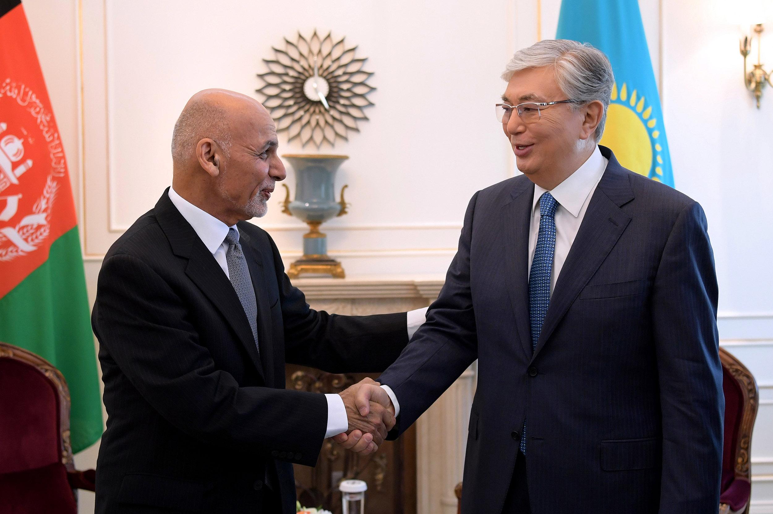 Касым-Жомарт Токаев встретился с Президентом Афганистана Мохаммадом Ашрафом  Гани — Официальный сайт Президента Республики Казахстан