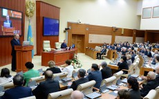 Participation in the session of the Majilis of the Parliament