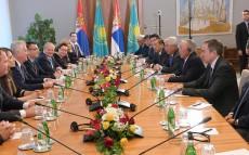 Мемлекет басшысының Сербия Республикасына ресми сапары аясында кеңейтілген құрамдағы келіссөздер өтті