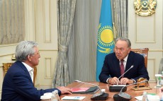 Meeting with Doskhan Zholzhaksynov, People's Artist of Kazakhstan