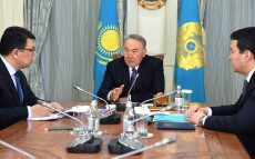 Meeting with Kanat Bozumbayev, the Energy Minister