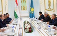 Meeting with chairman of the House of Representatives of the Supreme Assembly of the Republic of Tajikistan Shukurjon Zuhurov