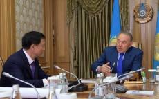 Meeting with Mayor of Astana Adilbek Dzhaksybekov