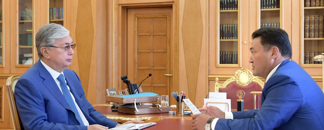 The Head of State receives Bolat Bakauov, Akim of Pavlodar region