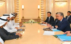 President of Kazakhstan met with Mohamed Khalifa Al Mubarak, Chairman of the Board of Directors of Aldar Properties