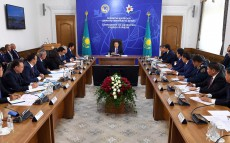 Meeting concerning Almaty city development