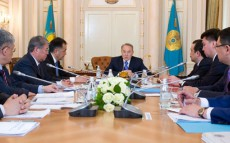 At the Almaty Residence President Nursultan Nazarbayev Holds a Meeting on Development of Southern Regions