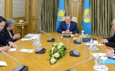 Today at Akorda President of Kazakhstan Nursultan Nazarbayev Meets UN High Commissioner for Refugees Antonio Guterres