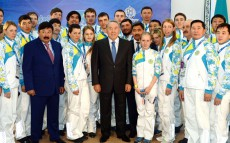 Meeting with athletes of Kazakhstan's National Olympic Team in Sochi