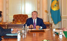Meeting with Prime Minister Karim Massimov and the Chairman of the National Bank Kairat Kelimbetov