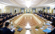 Enlarged Government session under the chairmanship of President Nursultan Nazarbayev