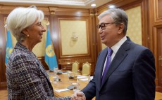 President of Kazakhstan Kassym-Jomart Tokayev meets with IMF Managing Director Christine Lagarde