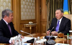 """Meeting with Chairman of the Board of JSC """"National Company """"Astana EXPO-2017"""" Akhmetzhan Yessimov"""