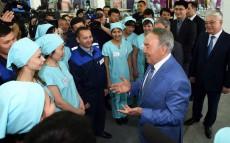 Мемлекет басшысы «Азала текстиль» ЖШС-да болды