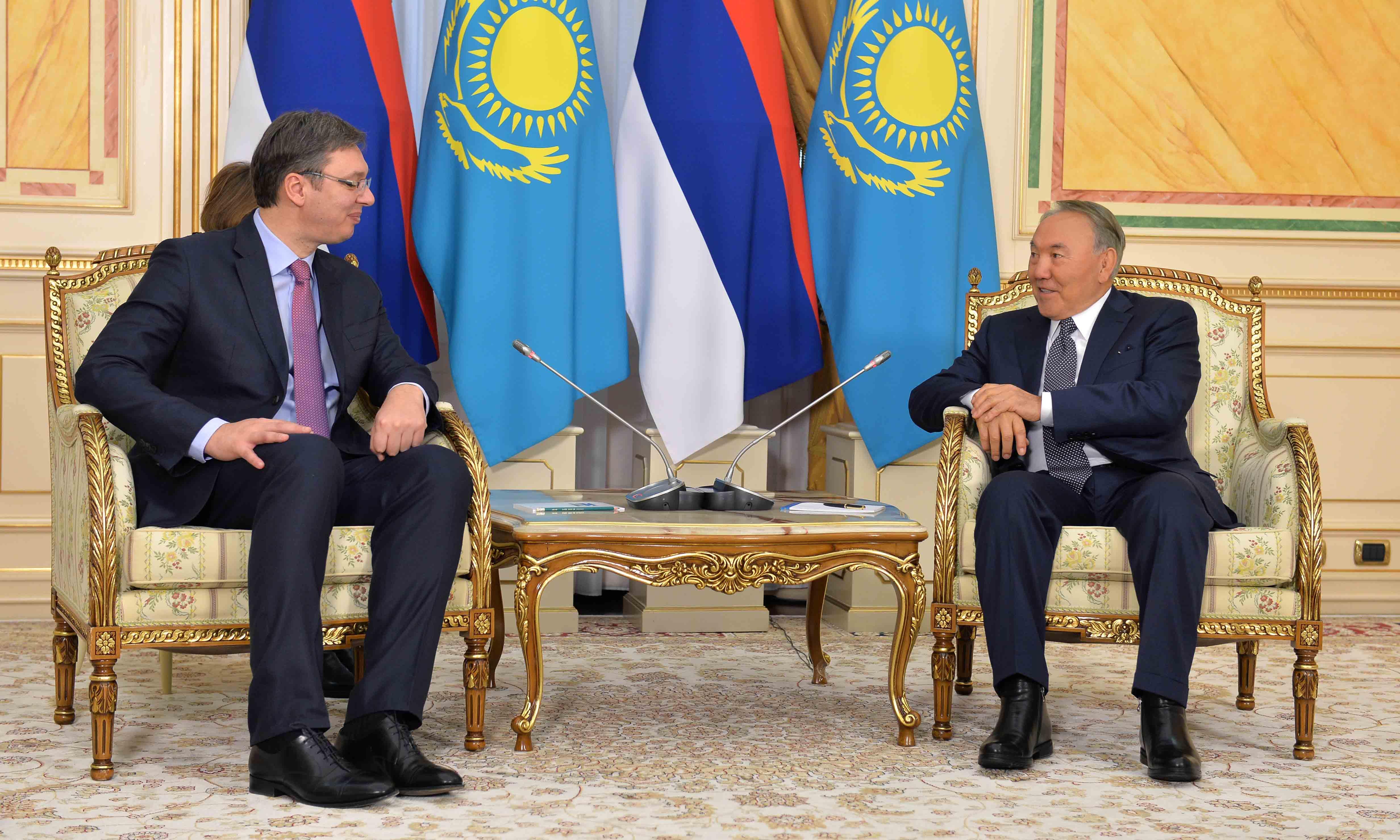 Премьер министр Сербии провёл встречу с президентом Казахстана