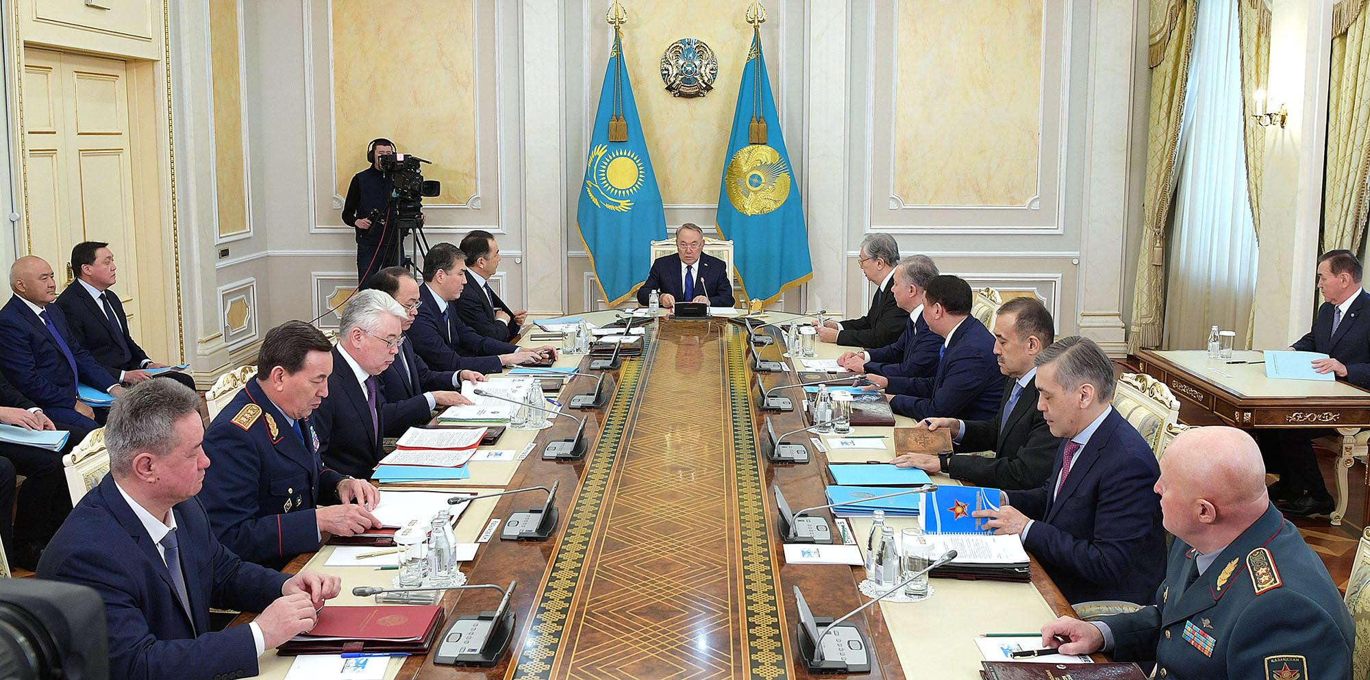 Заседание Совета Безопасности под председательством Президента прошло в Астане