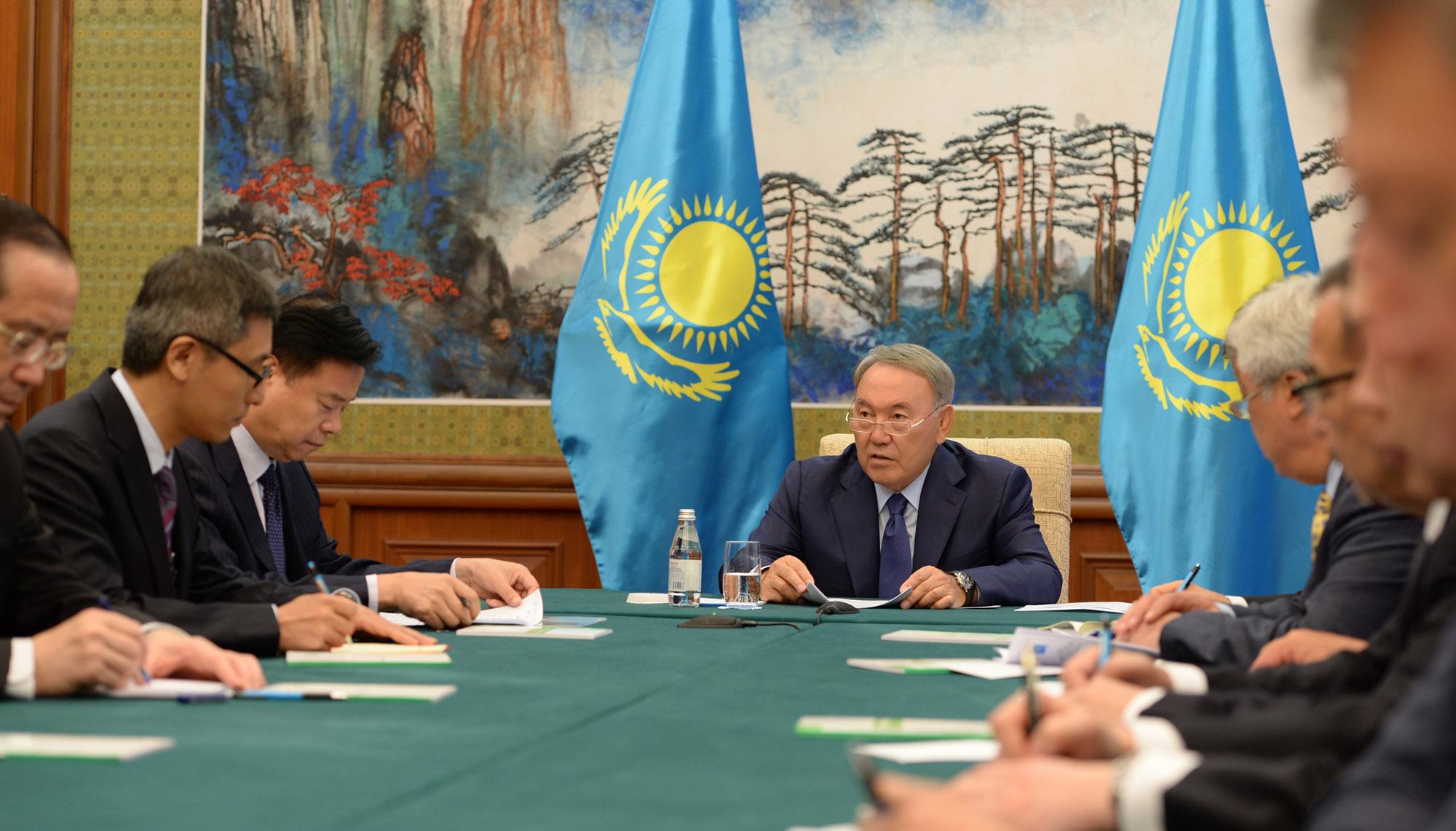 Н.Назарбаев: Развитие нефтегазового рынка – один из главных пунктов сотрудничества РК с КНР