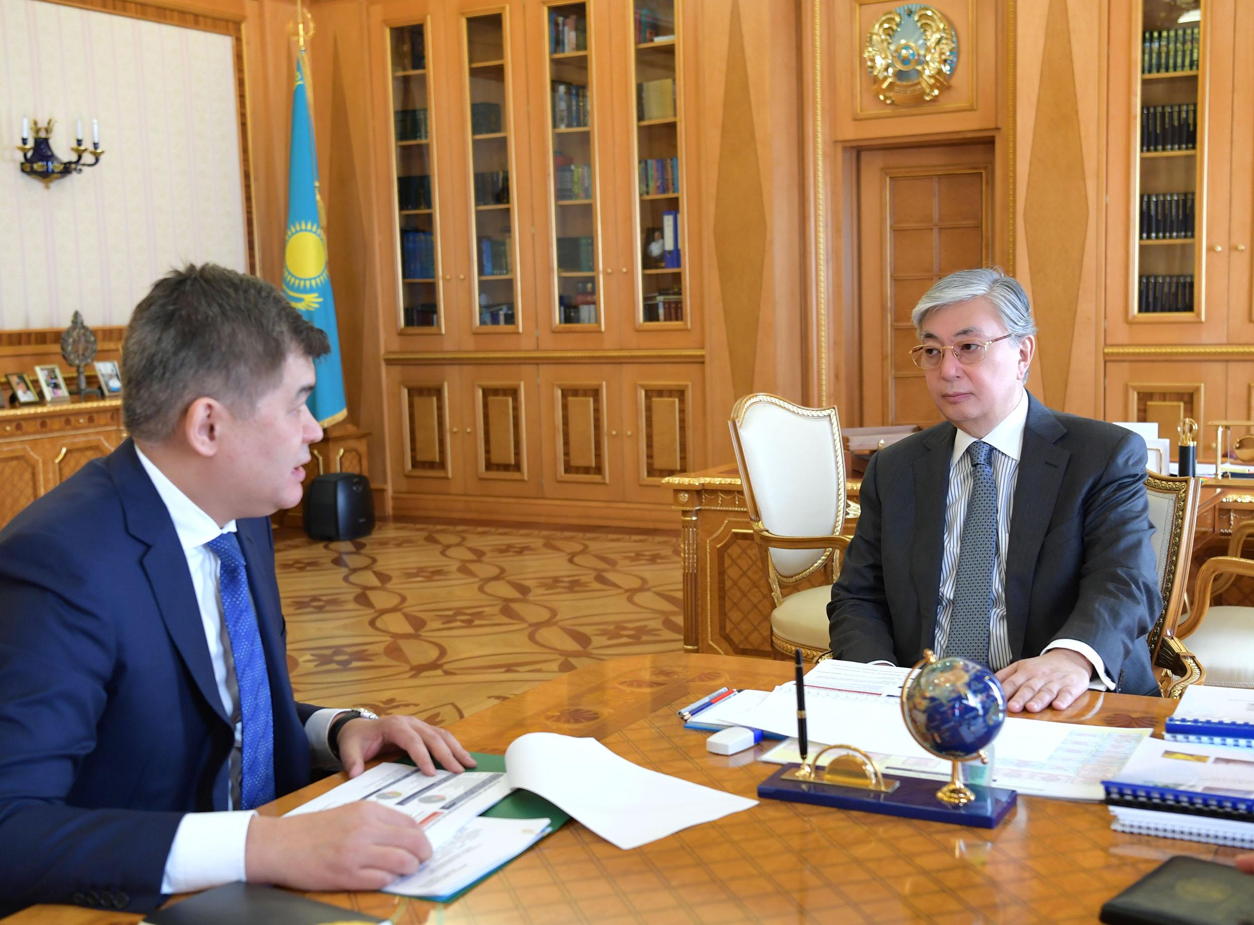 Биртанов представил президенту отчёт о состоянии здоровья казахстанцев