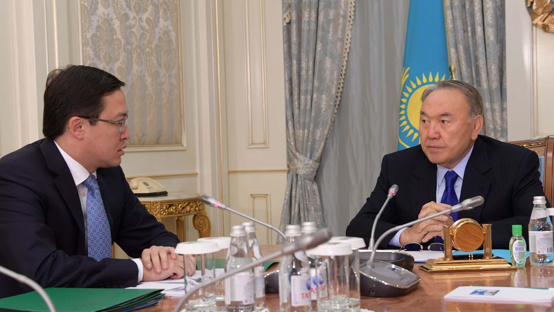 Нурсултан Назарбаев встретился с Председателем Национального Банка Данияром Акишевым