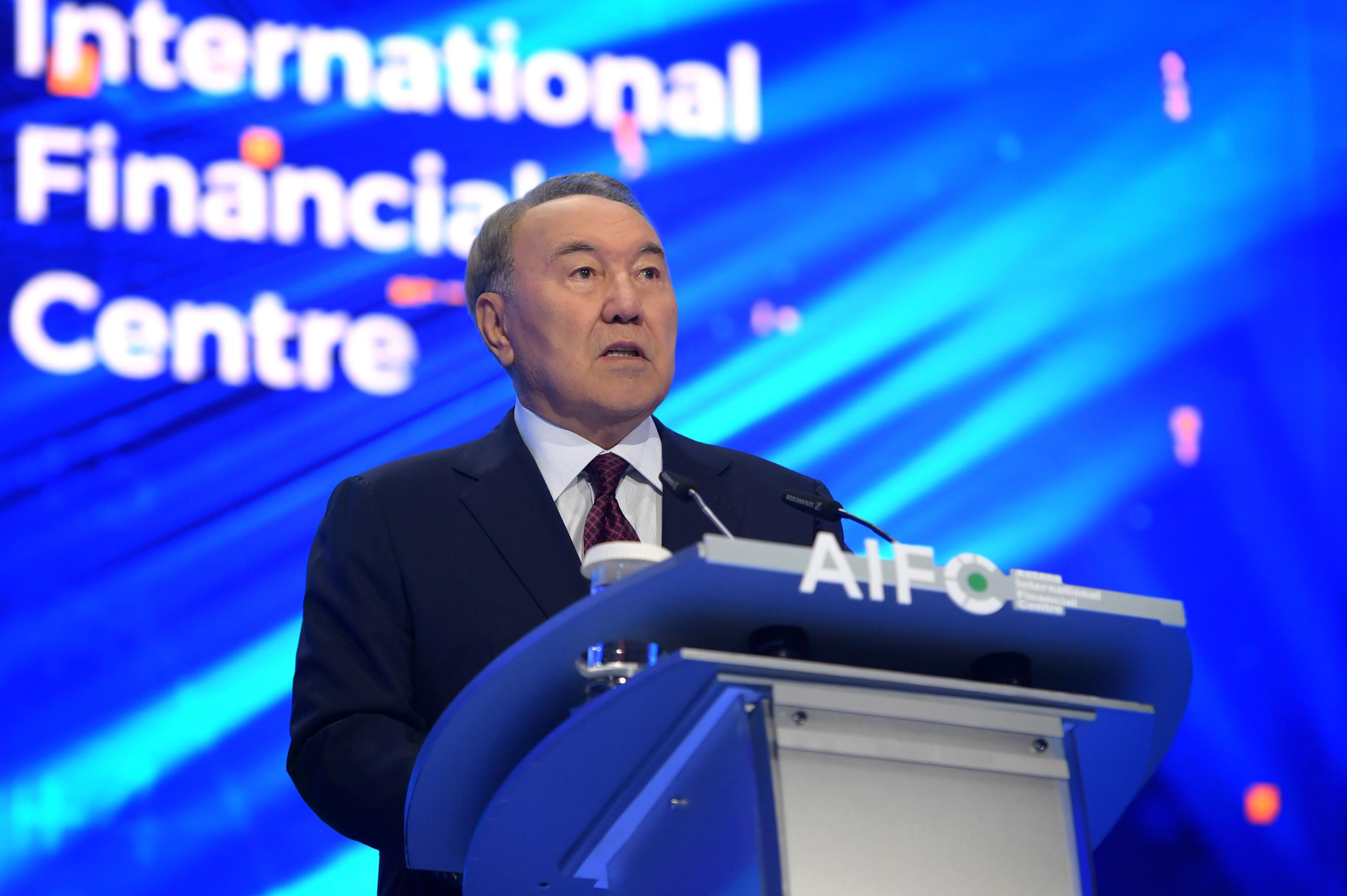 Нурсултан Назарбаев принял участие в церемонии открытия Международного финансового центра «Астана»